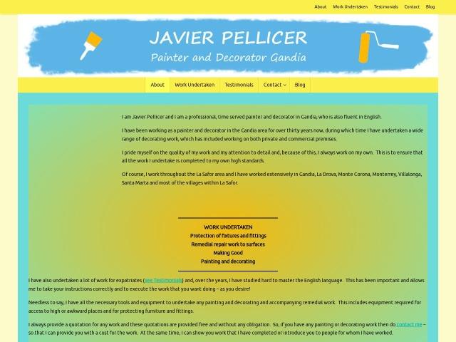 Screenshot of painteranddecoratorgandia.es