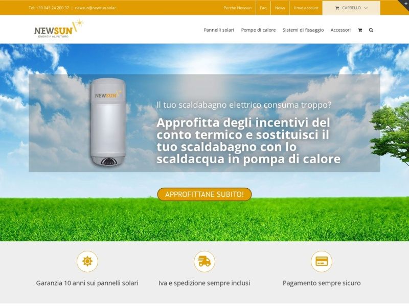 Pannelli Solari, Pompe di Calore: NEWSUN Shop online