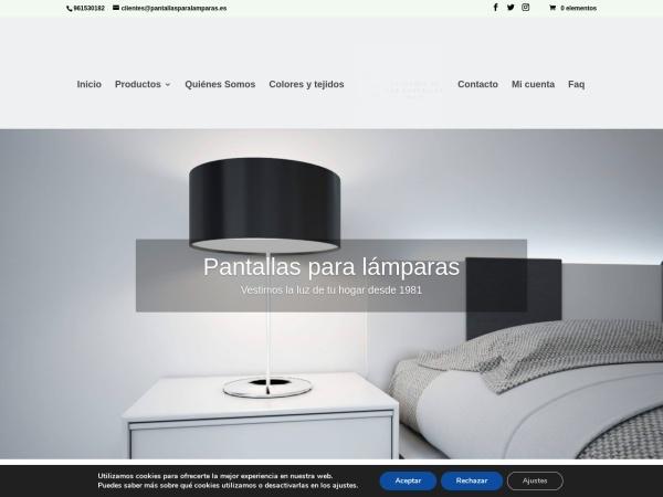 Captura de pantalla de pantallasparalamparas.es
