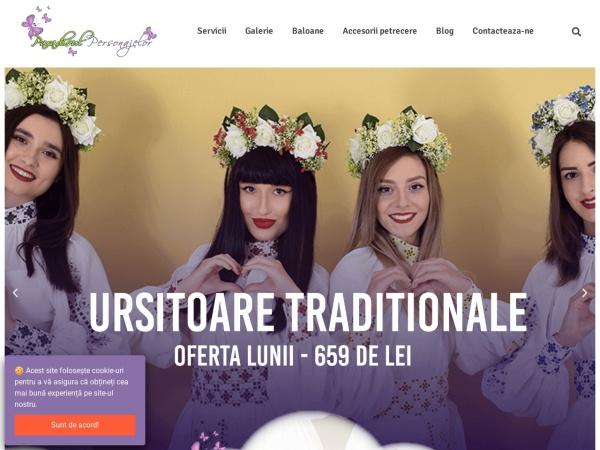 Screenshot of paradisulpersonajelor.ro