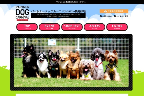 Screenshot of partner-dogcarnival.com
