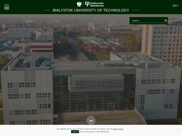 Screenshot of pb.edu.pl