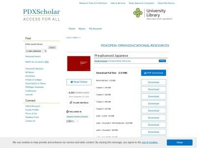 Screenshot of pdxscholar.library.pdx.edu