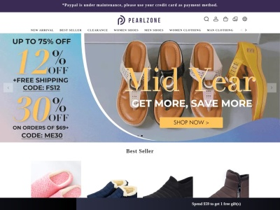 Screenshot of pearlzone.com