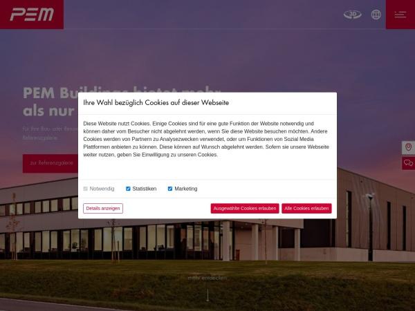Screenshot of pem.com