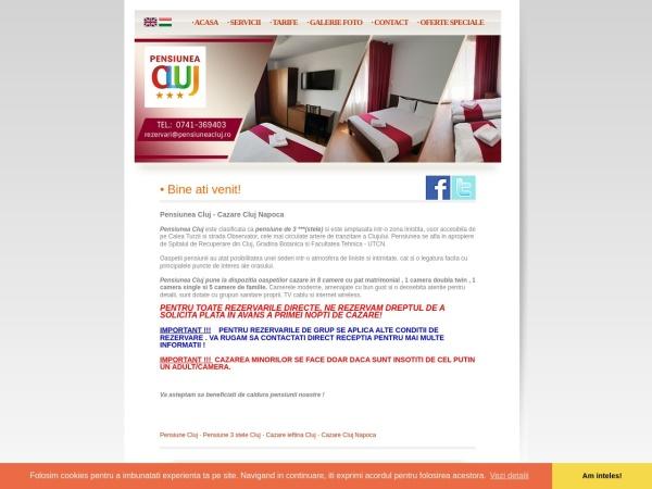 Screenshot of pensiuneacluj.ro