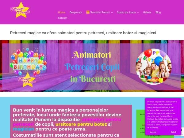 Screenshot of petrecerimagice.ro