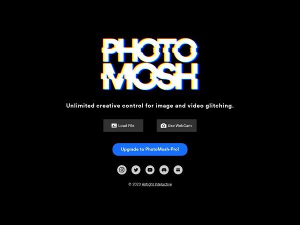 Screenshot of photomosh.com