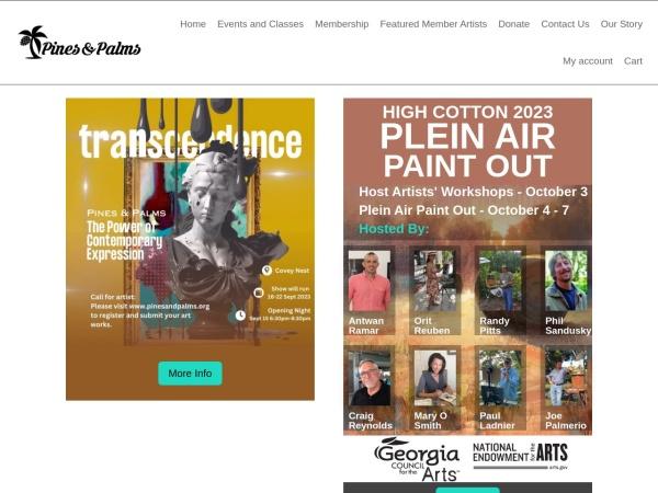 Screenshot of pinesandpalms.org