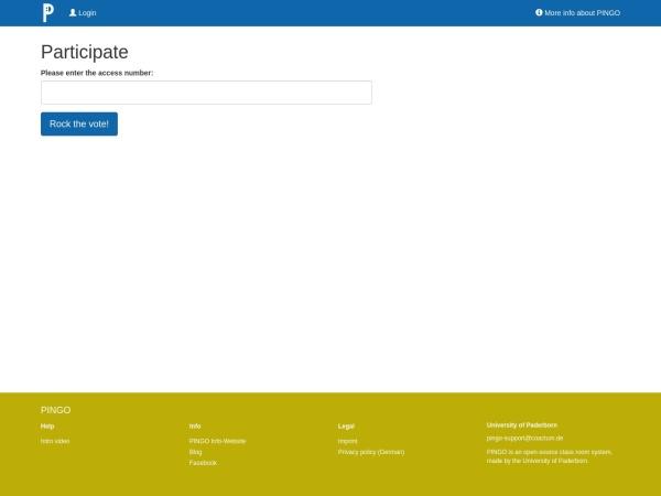 Screenshot von pingo.coactum.de