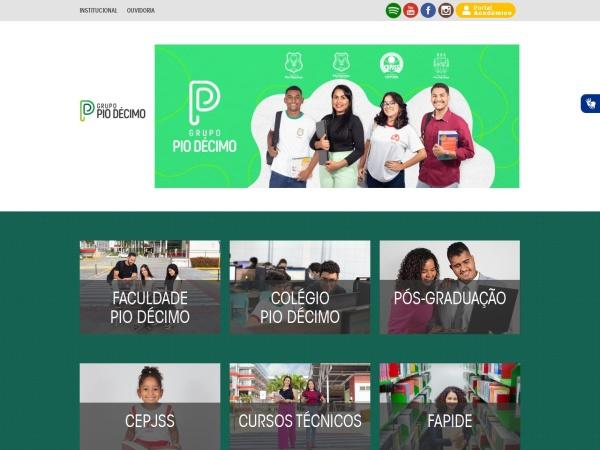 Screenshot of piodecimo.com.br