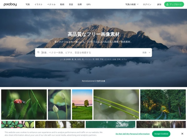 Screenshot of pixabay.com