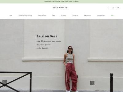 Screenshot of pixiemarket.com