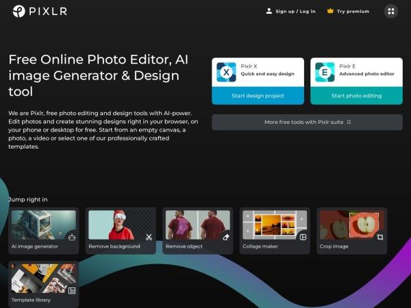 Screenshot of pixlr.com