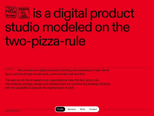 Screenshot of pizzapizza.io