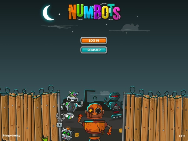 Screenshot of play.numbots.com