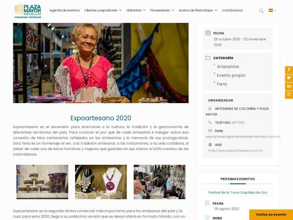 Captura de pantalla de plazamayor.com.co