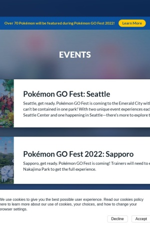 Screenshot of pokemongolive.com