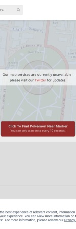 Screenshot of pokevision.com