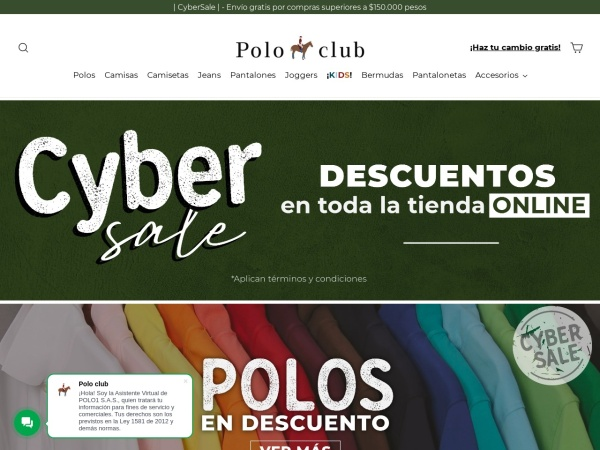 Captura de pantalla de poloclub.com.co