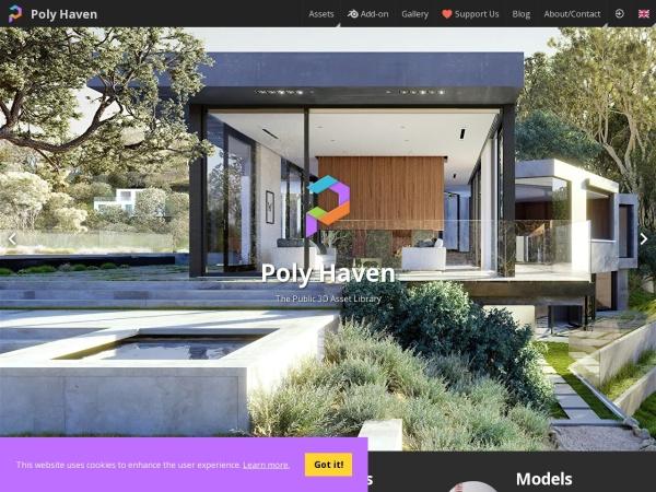 Screenshot of polyhaven.com