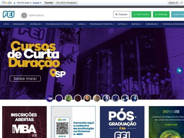 Screenshot of portal.fei.edu.br
