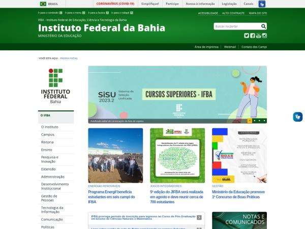 Screenshot of portal.ifba.edu.br