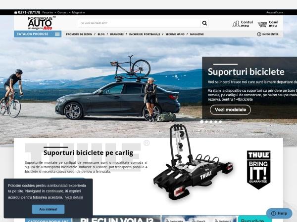 Screenshot of portbagajeauto.ro