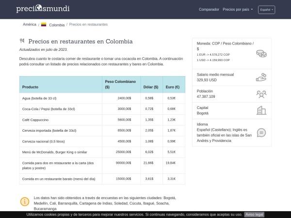 Captura de pantalla de preciosmundi.com