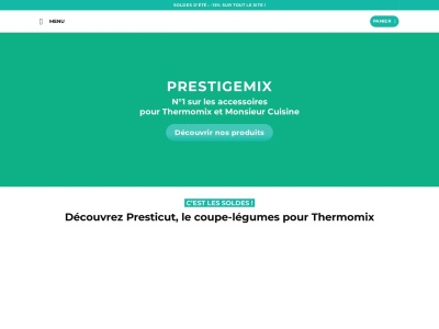 Découvrez les accessoires exceptionnels des robots cuiseurs Thermomix et Monsieur Cuisine de la boutique en ligne Prestige Mix