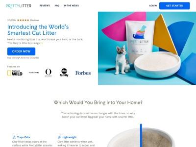 Screenshot of prettylittercats.com