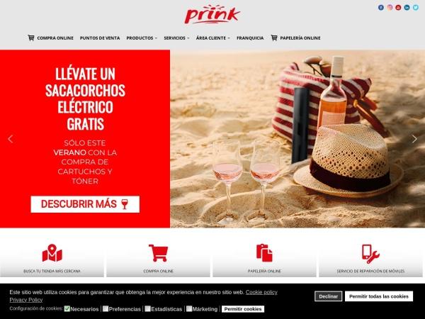 Captura de pantalla de prink.es