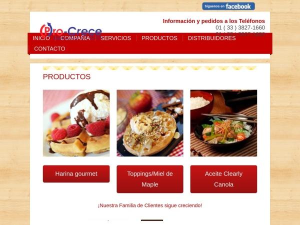 Captura de pantalla de procrece.com