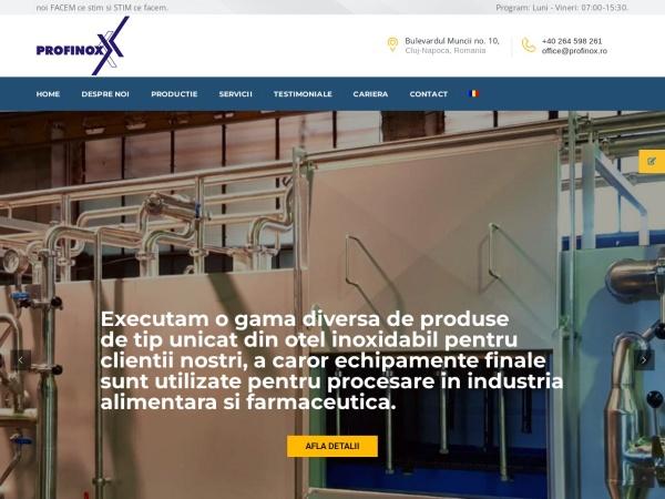 Screenshot of profinox.ro