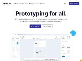 Screenshot of proto.io