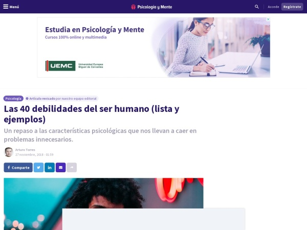 Captura de pantalla de psicologiaymente.com