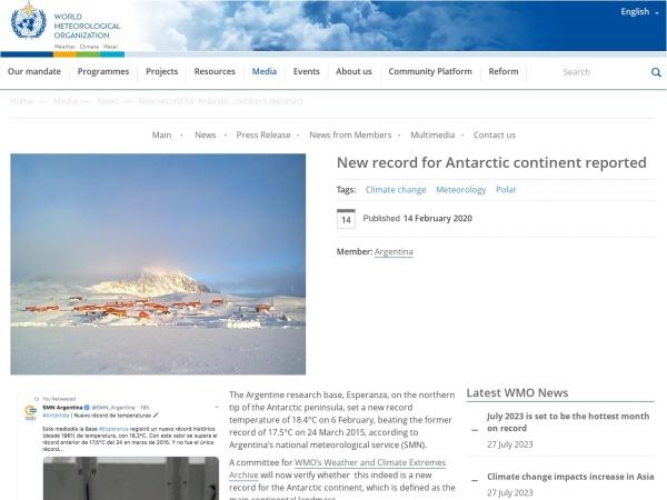Screenshot of public.wmo.int