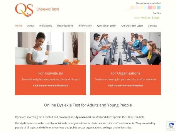 QS Dyslexia Tests