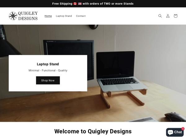 Screenshot of quigleydesigns.ca