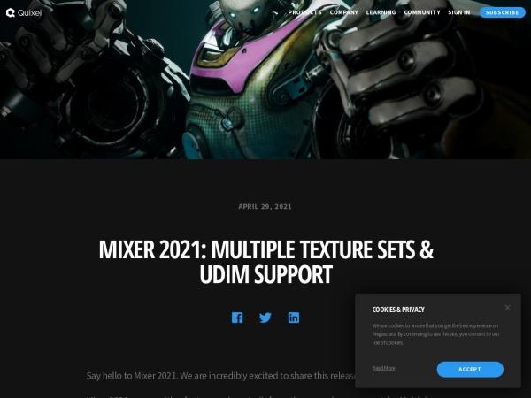Screenshot of quixel.com