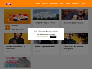 Screenshot of radiodelta.nl