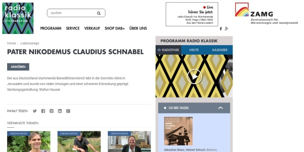 Screenshot of radioklassik.at