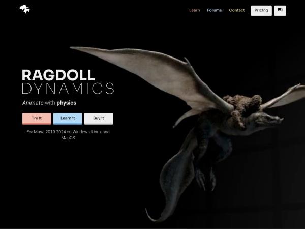 Screenshot of ragdolldynamics.com