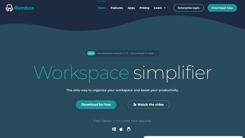 Screenshot von rambox.pro