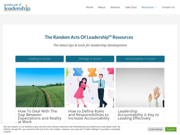 The Random Acts Of Leadership Blog Screenshot