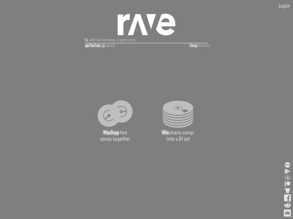Screenshot of rave.dj
