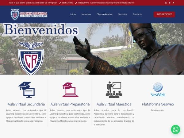 Captura de pantalla de reformacolegio.edu.mx