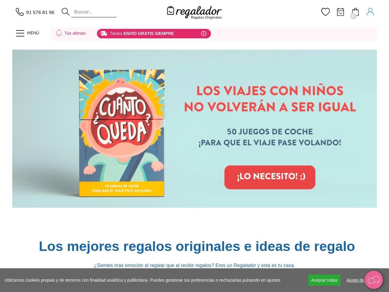 Captura de pantalla de regalador.com