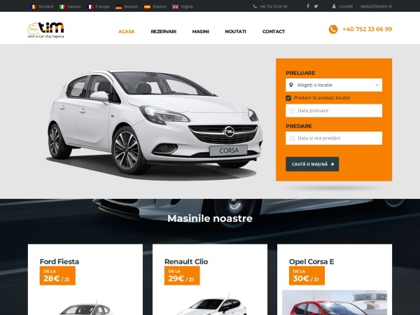 Screenshot of rent-a-car-cluj.com