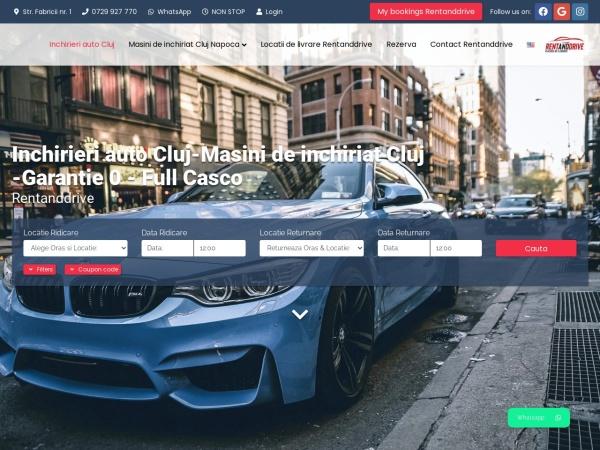 Screenshot of rentanddrive.ro